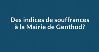 Des indices de souffrances à la Mairie de Genthod?