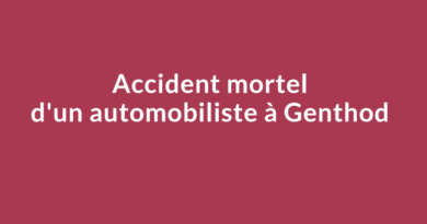 Accident mortel d'un automobiliste à Genthod